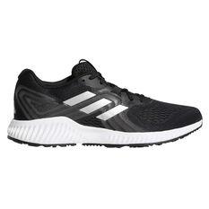 adidas Aerobounce Mens Running Shoes Black / White US 07, Black / White, rebel_hi-res
