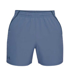 Under Armour Mens Qualifier 5in Woven Training Shorts Blue XS, Blue, rebel_hi-res