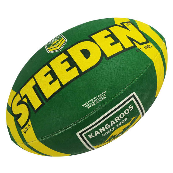Steeden NRL Kangaroos Supporter Rugby League Ball, , rebel_hi-res