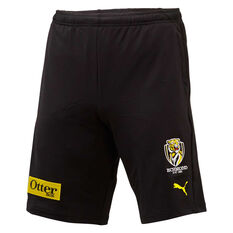 Richmond Tigers 2020 Mens Training Shorts Black S, Black, rebel_hi-res