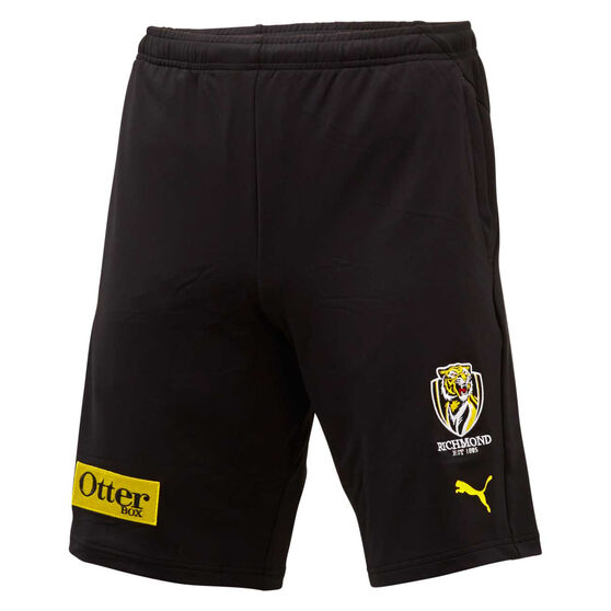 Richmond Tigers 2020 Mens Training Shorts, Black, rebel_hi-res