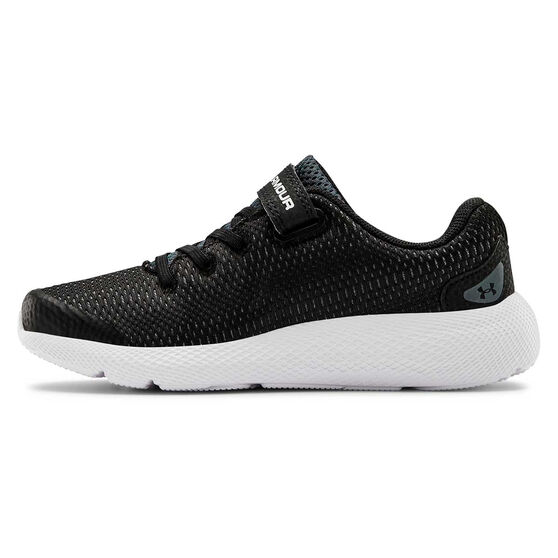 Under Armour Persuit 2 Kids Running Shoes, Black/White, rebel_hi-res