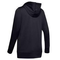 Under Armour Womens Fleece Graphic Hoodie Black XS, Black, rebel_hi-res