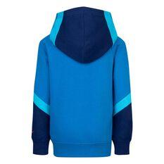 Nike Boys G4G FT Blocked Hoodie Blue 4 4, Blue, rebel_hi-res