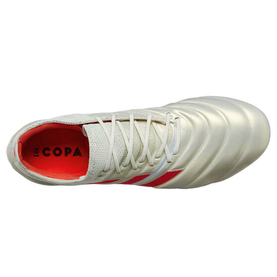 adidas Copa 19.1 Mens Football Boots, White / Red, rebel_hi-res