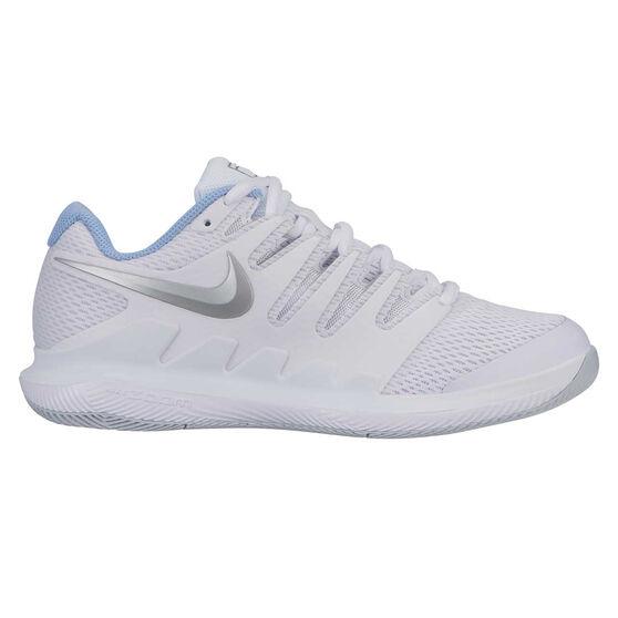 Nike Air Zoom Vapor X Hardcourt Womens Tennis Shoes, White / Silver, rebel_hi-res