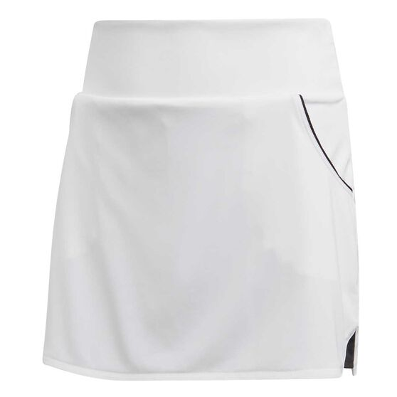adidas Girls Club Skirt, White / Silver, rebel_hi-res