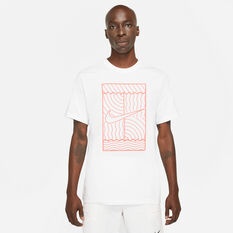 NikeCourt Mens Tennis Tee White XS, White, rebel_hi-res