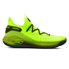 Under Armour Curry 6 Kids Basketball Shoes Yellow / Green US 4, , rebel_hi-res