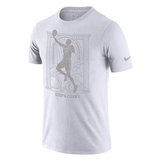 Nike Golden State Warriors Steph Curry 2020 Mens Dri-FIT Tee White L, White, rebel_hi-res