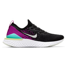 Nike Epic React Flyknit 2 Kids Running Shoes Black / Purple US 4, , rebel_hi-res