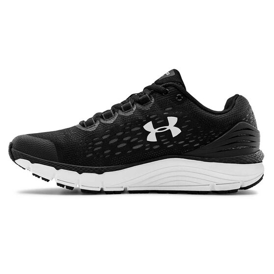 Under Armour Charged Intake 4 Womens Running Shoes, Black / White, rebel_hi-res