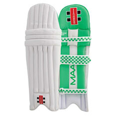 Gray Nicolls Maax Strike Junior Cricket Batting Pads White / Green Youth, White / Green, rebel_hi-res