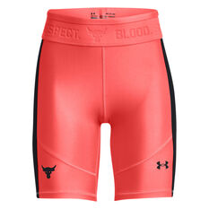 Under Armour Womens Project Rock HeatGear Bike Shorts Red XS, Red, rebel_hi-res