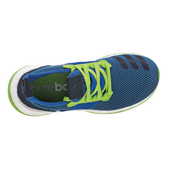 a254ceee83 adidas Pure Boost ZG Boys Running Shoes Blue / Green US 7