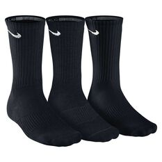 Nike Cushion Cushion Crew 3 Pack Socks Black XL, Black, rebel_hi-res