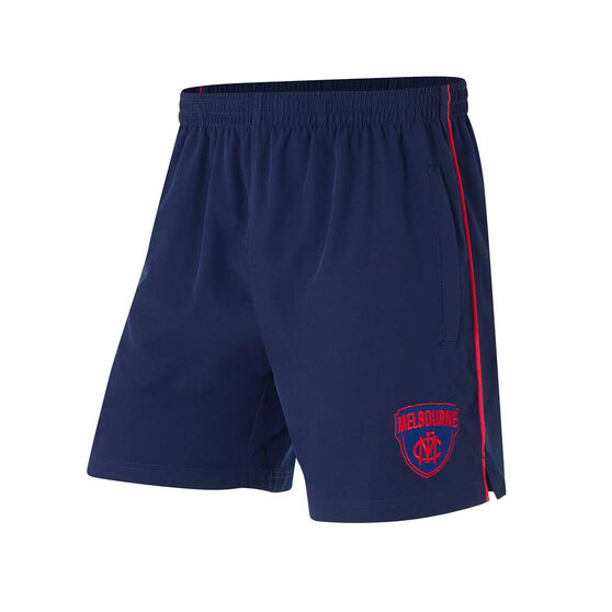 Melbourne Demons Mens Core Training Shorts, Blue, rebel_hi-res