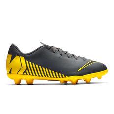 Nike Mercurial Vapor 12 Club Kids Football Boots Grey / Black US 1, Grey / Black, rebel_hi-res