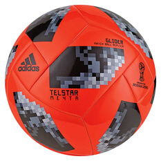 adidas Telstar Mechta 2018 Glider Soccer Ball Red / Black 3, Red / Black, rebel_hi-res
