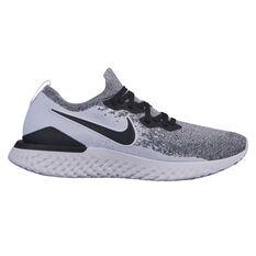 Nike Epic React Flyknit 2 Mens Running Shoes White / Black US 7, White / Black, rebel_hi-res