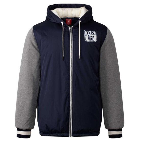 Geelong Cats Mens Sideline Jacket Blue XL, Blue, rebel_hi-res