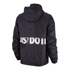 Nike Mens Sportswear Just Do It Woven Jacket Black / White S, Black / White, rebel_hi-res