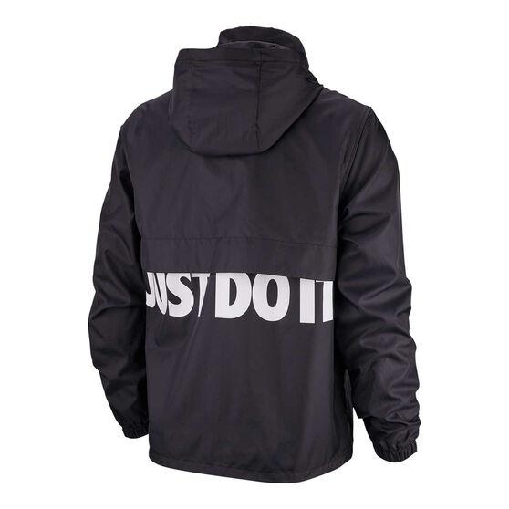 Nike Mens Sportswear Just Do It Woven Jacket, Black / White, rebel_hi-res