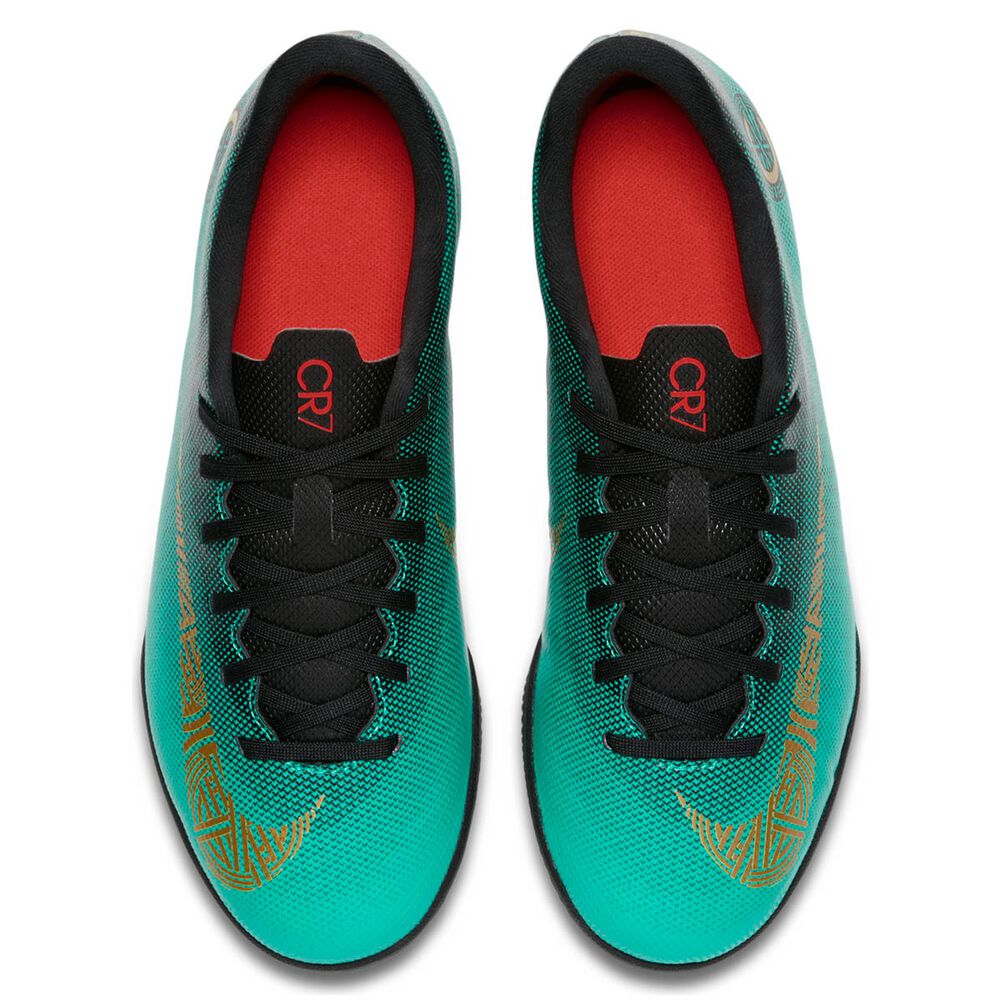 6f843dabe60d Nike Vaporx 12 Club CR7 Kids Indoor Soccer Shoes Green / Gold US 4, Green