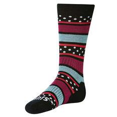 SVNT5 Girls Colour Play Socks Black / Blue US 1 - 7, , rebel_hi-res