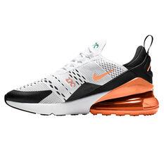 Nike Air Max 270 Kids Casual Shoes Black/Orange US 4, Black/Orange, rebel_hi-res