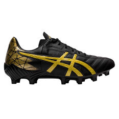 Asics Lethal Tigreor IT Football Boots Black / Gold US Mens 6 / Womens 7.5, Black / Gold, rebel_hi-res