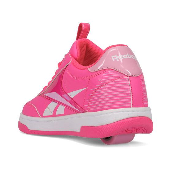 Reebok Court Low Heelys, Pink/White, rebel_hi-res
