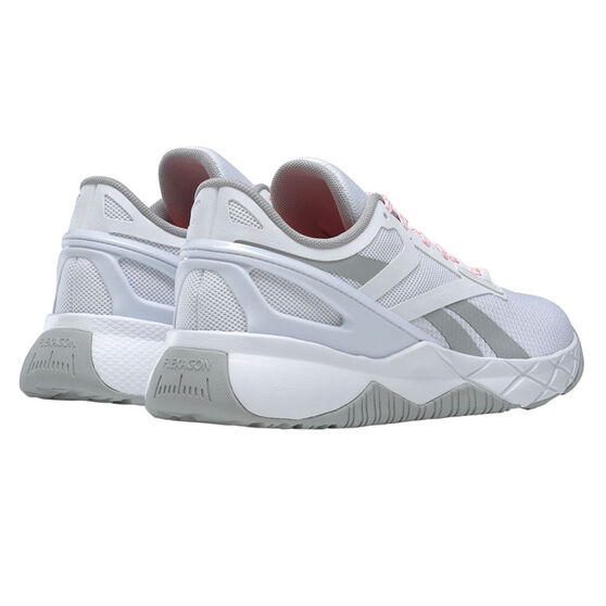 Reebok Nanoflex Womens Training Shoes, White/Grey, rebel_hi-res