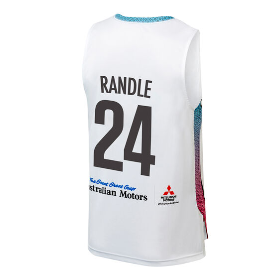 Adelaide 36ers Jerome Randle City Edition 2019/20 Mens Jersey, White, rebel_hi-res