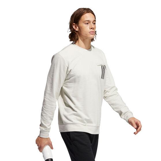 Adidas Mens PG Lite Sweatshirt, White, rebel_hi-res