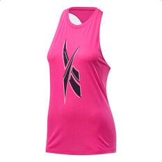 Reebok Womens Workout Ready Supremium Tank, Pink, rebel_hi-res