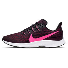 Nike Air Zoom Pegasus 36 Womens Running Shoes Black / Pink US 6, Black / Pink, rebel_hi-res
