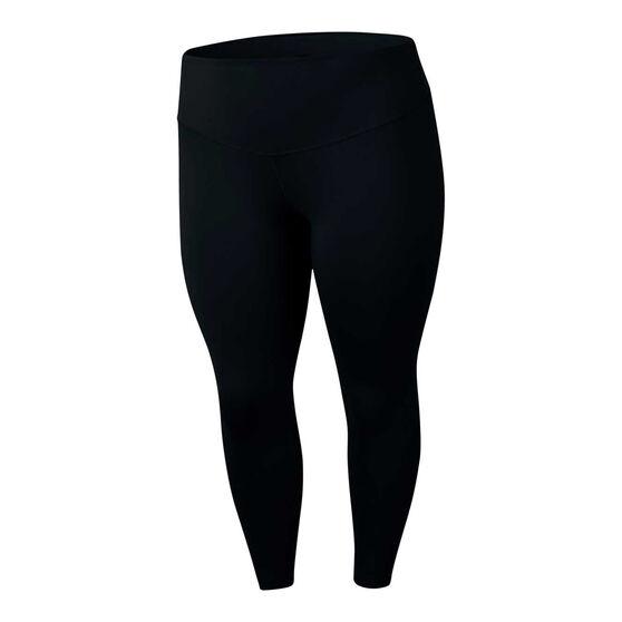 Nike Womens One Tights Plus, Black, rebel_hi-res