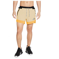 Nike Mens Dri Fit Flex Stride Trail Shorts Yellow S, Yellow, rebel_hi-res