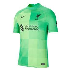 Liverpool FC 2021/22 Mens Stadium Goal Keeping Jersey Green S, Green, rebel_hi-res