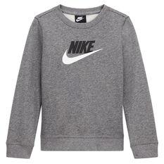 Nike Boys NSW Club HBR Sweatshirt, Grey, rebel_hi-res