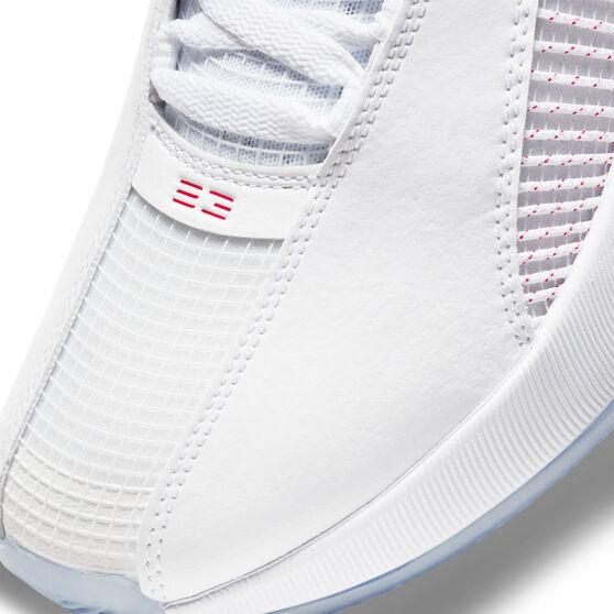 Air Jordan XXXV Fire Red Basketball Shoes, White, rebel_hi-res