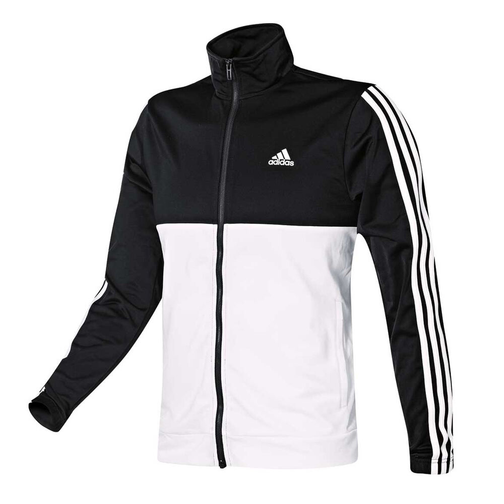 af82db0e7e3 adidas Mens Back 2 Basics 3 Stripes Tracksuit Black   White M ...