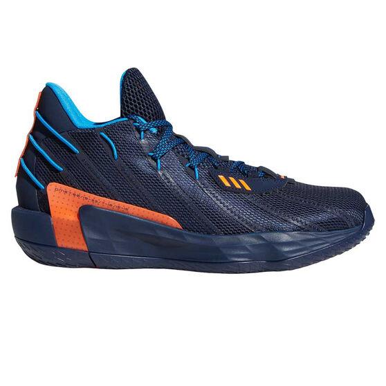 adidas Dame 7 Mens Basketball Shoes, Blue, rebel_hi-res