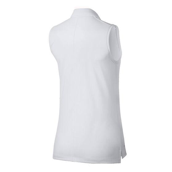 Nike Womens Dri FIT Golf Polo, White, rebel_hi-res