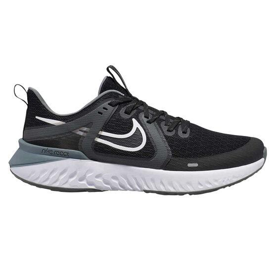 Nike Legend React 2 Mens Running Shoes, Black / White, rebel_hi-res