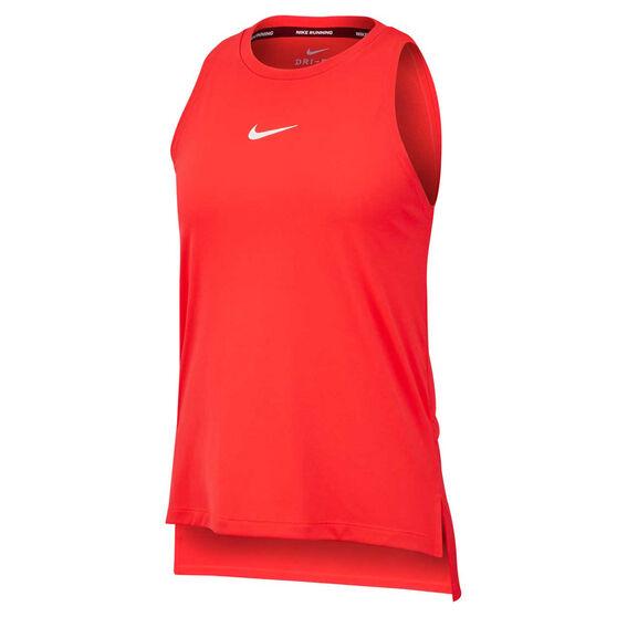Nike Womens Rebel Graphic Running Tank Red XS, Red, rebel_hi-res