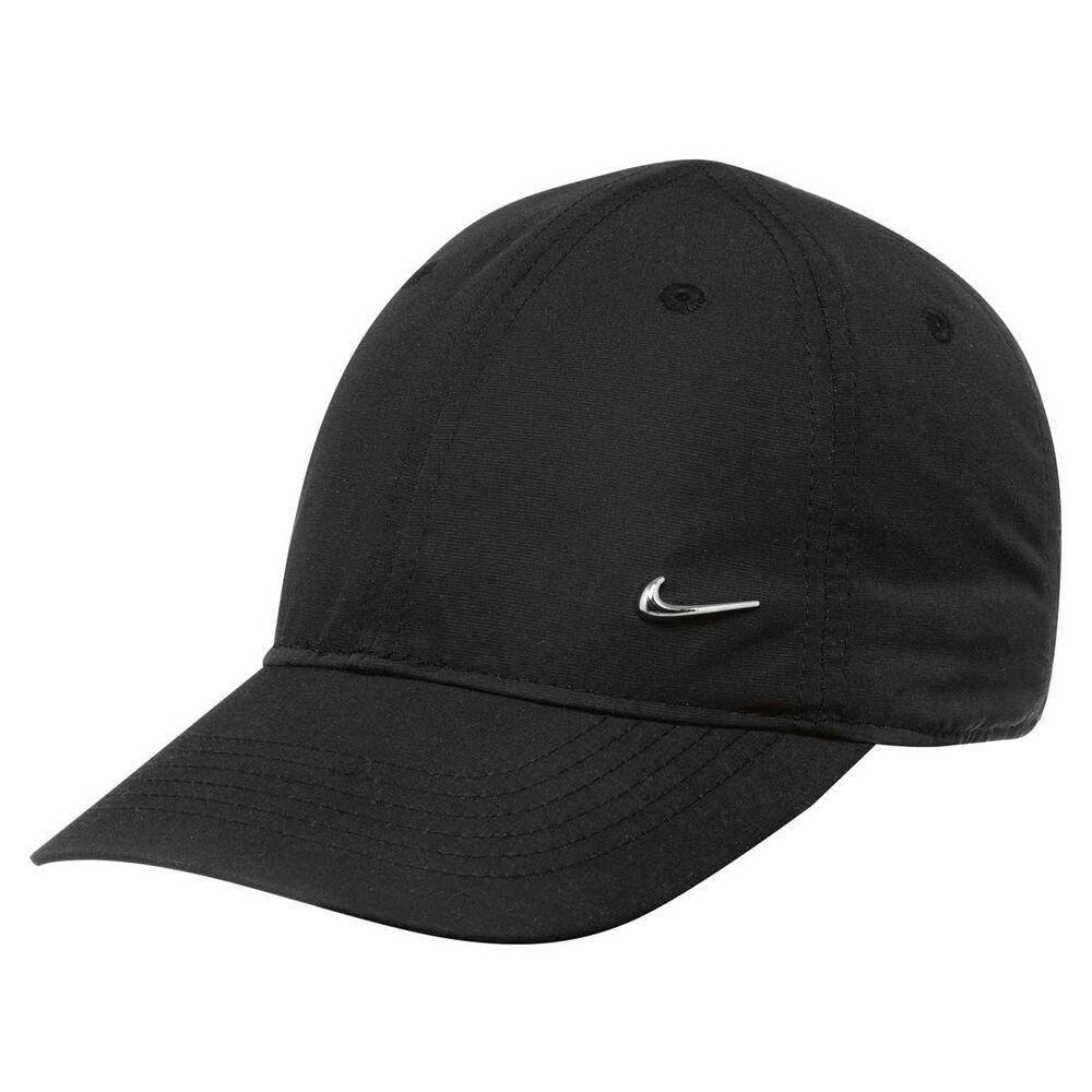 911a016142f Nike Boys Heritage 86 Metal Swoosh Cap Black OSFA