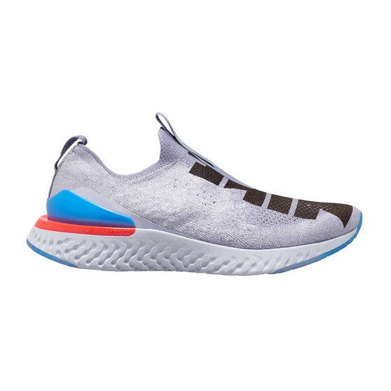 Nike Epic React Phantom Flyknit Mens Running Shoes, Purple / Black, rebel_hi-res