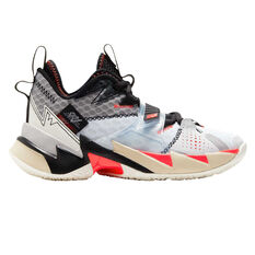 Nike Air Jordan Why Not Zer0.3 Kids Basketball Shoes White/Red US 4, White/Red, rebel_hi-res